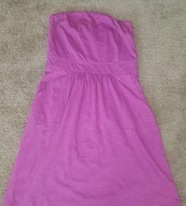J.Crew Pink Stapless Dress with Pockets sz s